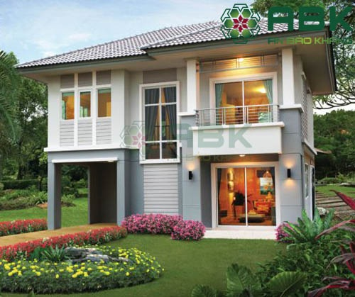 Mẫu thiết kế biệt thự 2 tầng có sân vườn đẹp M20