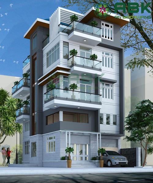 Mê mẩn với mẫu thiết kế nhà phố 5 tầng cực kỳ hiện đại M01