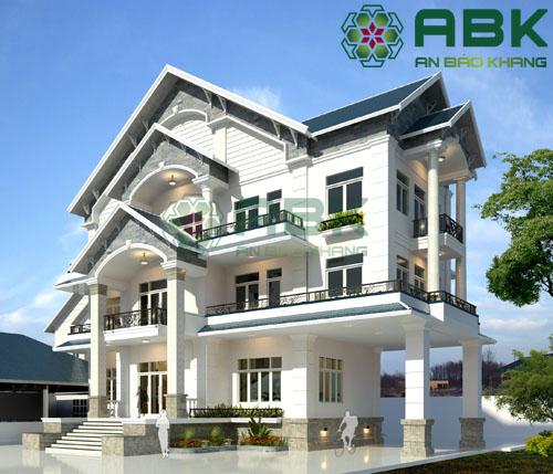Mẫu thiết kế nhà biệt thự 3 tầng hiện đại M18