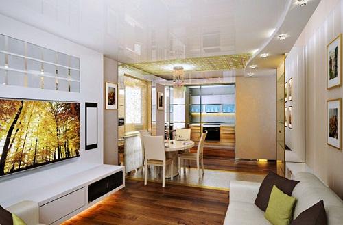 Thiết kế nội thất phòng khách chung cư mang phong cách hiện đại.