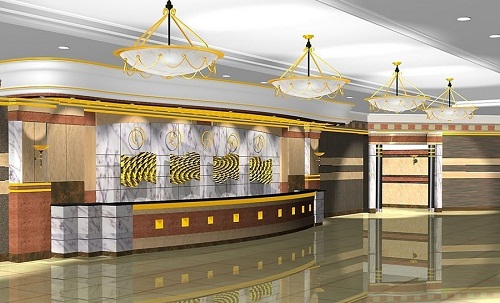 Mẫu thiết kế khách sạn mang vẻ đẹp sang trọng, cao cấp.