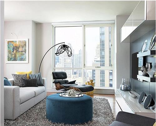 Thiết kế nội thất đẹp lộng lẫy cho căn hộ 40m2.