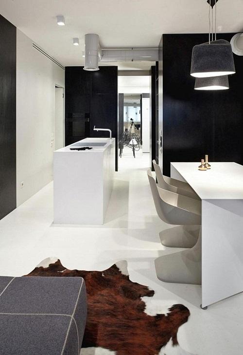 Thiết kế nội thất cho căn hộ chung cư hiện đại.
