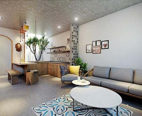 Thiết kế nội thất nhà lô – phố mang phong cách trẻ trung, đáng yêu.