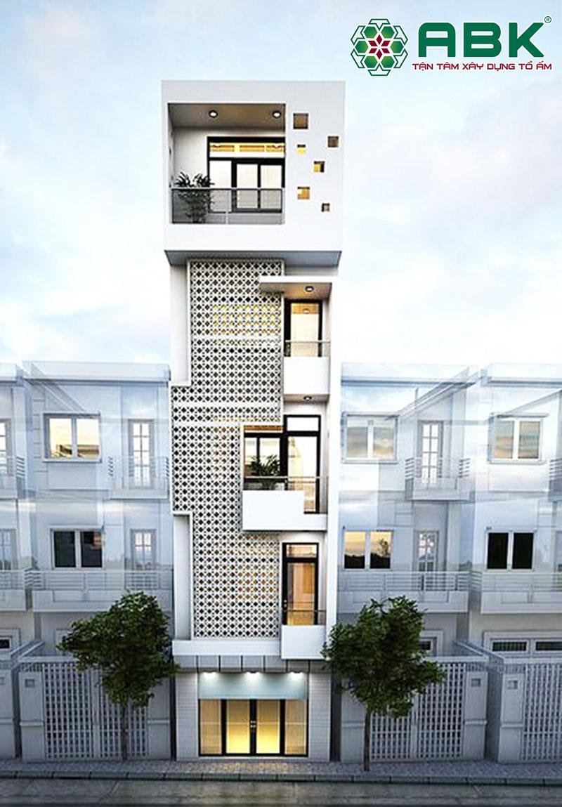 chi phí xây nhà 5 tầng 90m2
